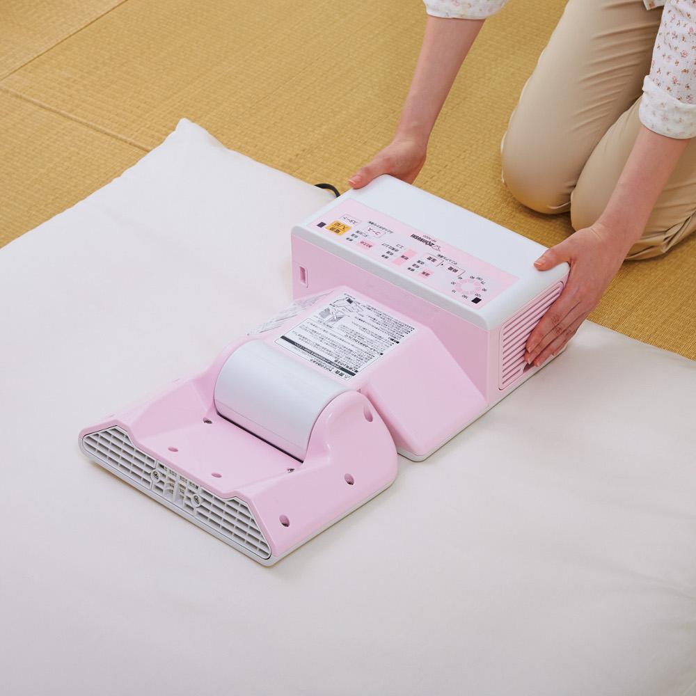 マットの要らないふとん乾燥機を敷布団の上に置いて